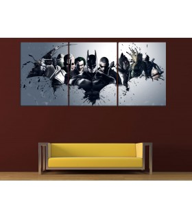 set of 3 batman arkham canvas frames